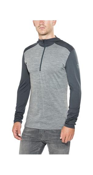 Icebreaker Oasis sweater Heren grijs/blauw